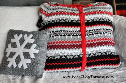 black-red-and-gray-sweater-pillow