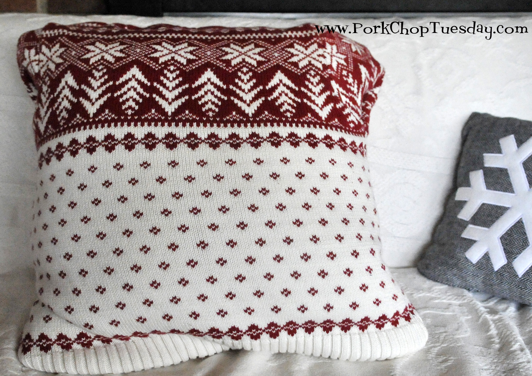 red-and-white-sweater-pillow